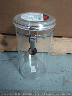 Oggi 72-Ounce Clear Acrylic Canister with Locking Clamp Pantry