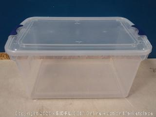 Homz 16.5 Gallon Latching Clear Storage Container