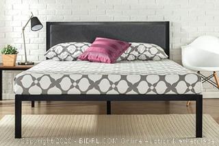 Zinus Korey Twin 38 x 74.5 x 14 inch Metal Platform Bed w/ headboard, Twin (Retails $110)