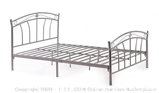 Hodedah Full white Head board and footboard only, Full (Retails $135)