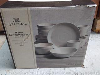 bee and Willow 16-piece dinnerware set