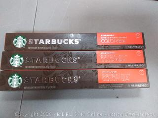 Starbucks single-origin Coffee Columbia 10 capsules 7 intensity X3