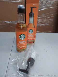 Starbucks naturally flavored caramel syrup with other natural flavors