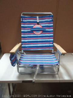 Tommy Bahama 5 position classic lay flat folding backpack beach chair