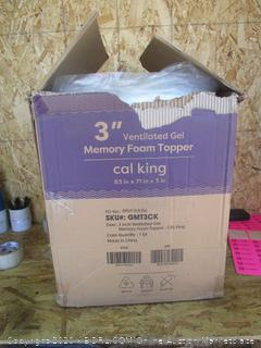 Gel Memory Foam Topper Size Cal King