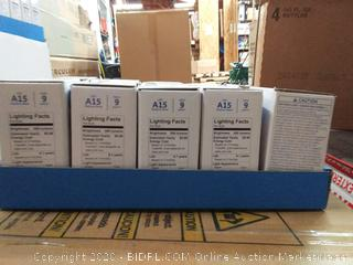 basic LED soft white 60w A-15 medium base 5 count (4 total)