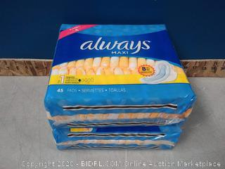 Always Maxi Pads, Regular