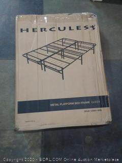 Hercules brand heavy duty 14 in Queen metal platform bed Foundation (Retail Value $145)