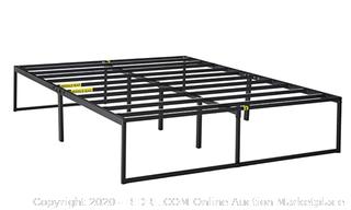 Zinus Lorelei 14 Inch Platforma Bed Frame / Mattress Foundation / No Box Spring Needed / Steel Slat Support, Queen (Retail Value $100)