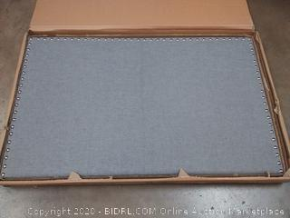 Crown Mark Upholstered Panel Bed in Gray, with Nailhead, Twin (on rack D4)