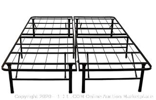 Hercules brand heavy duty 14 in Queen metal platform bed Foundation (Retail Value $145)