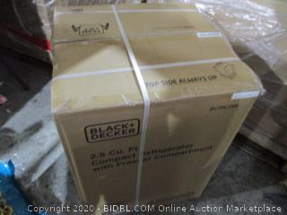 Black + Decker  2.5 Cu Ft Compact Refrigerator