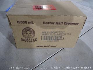Califia Dairy Free Betterhalf Unsweetened   Coconut Cream & almond Milk