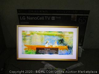"""LG NanoCell TVC AI ThinQ 65"""" missing power cord see pictures"""