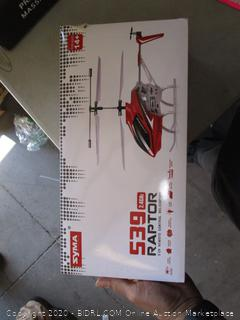 539 Raptor Remote Control Helicopter