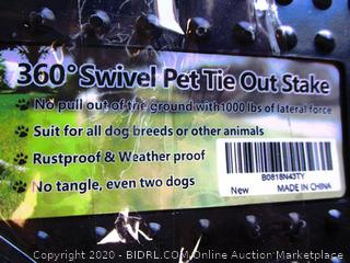 360 Swivel Pet Tie Out Stake