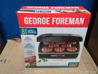 George Foreman Classic Plate Grill and Panini Press 8 Serving (Factory Sealed)