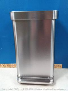 SimpleHuman Medium Step on Trash Can (online $129)