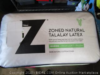Zoned Natural Talalay Latex Queen Pillow