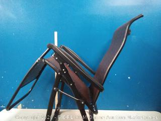 GOLDSUN Rattan Zero Gravity Reclining Chaise Lounger Adjustable Folding Lounge Chair (online $149)