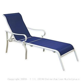 Never Rust Aluminum Chaise Lounge In Blue (online $99)