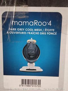4moms® mamaRoo® 4 Cool Mesh Infant Seat in Dark Grey (online $249) powers on