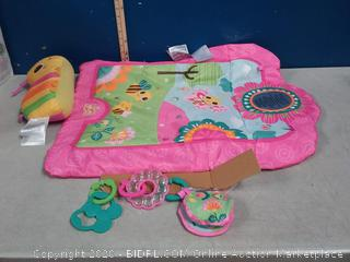 Bright Starts Flowers and Friends Prop Mat Pink