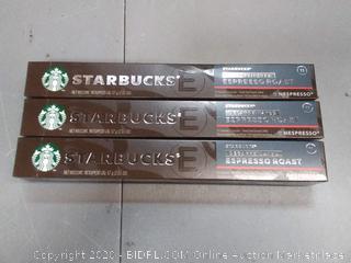 Starbucks decaffeinated espresso roast 11 intensity X3
