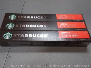 Starbucks single origin Coffee Columbia 10 capsules 7 intensity X3