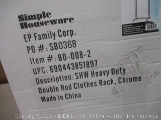 Heavy Duty Double Rod Clothing Rack