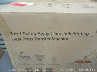 5 in 1 swing Away Clamshell Printing Heat Press Transfer Machine     factory sealed