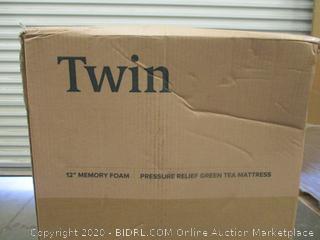 "Zinus Twin 12"" Memory Foam Mattress Factory Sealed"