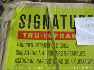 Signature Char Broil  4 Burner Infrared Gas Grill  Damages Putaway & Locked
