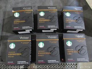 Starbucks Verismo Espresso Roast  6 box Pods