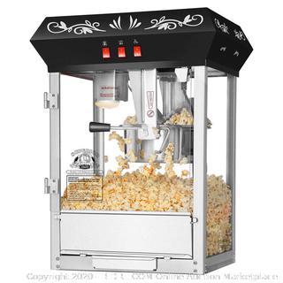 Superior Popcorn 8 Ounce Popcorn Machine- Electric Countertop Popcorn Maker (Black)(Retails $199)