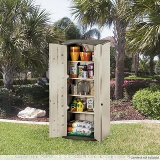 """Rubbermaid vertical shed 6'Hx2'6""""Lx2'1""""W(Rack 18) (Online $270)"""