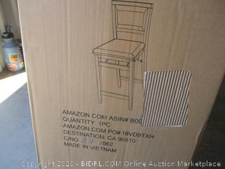 Padded Back Folding Stool