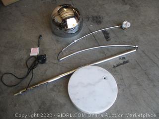 Versanora - Modern Arc Floor Lamp, Chrome with Marble Base