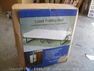 Linon Home - Luxor Memory Foam Folding Bed Mattress, Cot (Retail $120)  Plus Mattress Recycle Fee