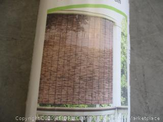 "Radiance - Cord Free Roll-up Reed Shade, Natural (48"" x 72"")"