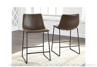 Signature Design by Ashley - Centiar Counter Height Bar Stools, Set of 2 ($130 Retail)