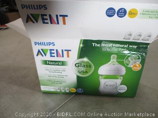 Philips Avent - Natural Glass Baby Bottle (Qty 3)