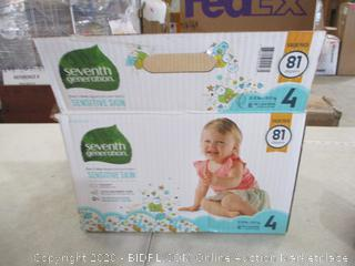 Seventh Generation - Sensitive Skin Diapers, Size 4 (Sealed Bags)