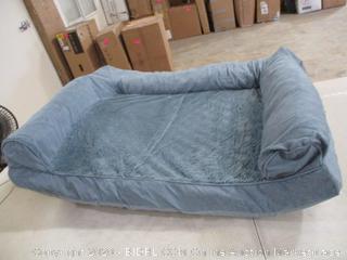 "Furhaven - Large Plush & Suede Sofa Pet Bed (27"" x 36"")"