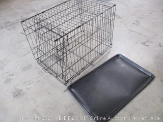 """Carlson Pet Products - Secure & Foldable Single Door Metal Dog Crate (31"""" x 19"""" x 21"""")"""