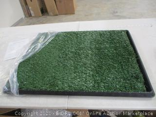 """Petmaker - Artificial Grass Bathroom Mat for Puppies (21"""" x 26"""")"""