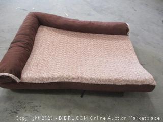 """FurHaven - Ergonomic Contour Lounger Pet Bed (35"""" x 44"""")"""