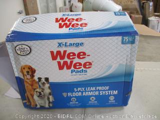 """Four Paws - Wee-Wee Pet Training Pads, X-Large 28"""" x 34"""" (75 Count)"""