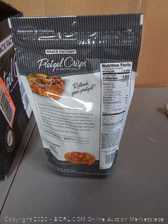 Snack Factory pretzel crisps sea salt and. cracked pepper