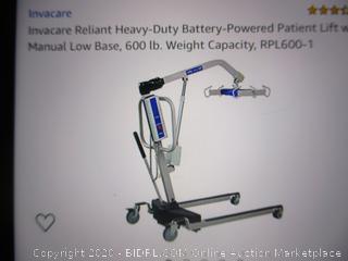 Invacare Heavy-Duty Patient Lift (Retail $3150)